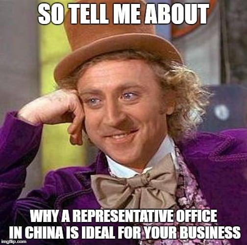 representative office in china meme