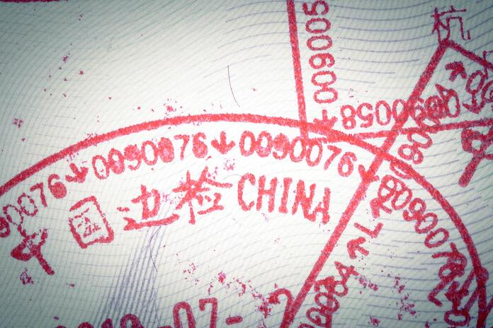 china entry stamp in passport