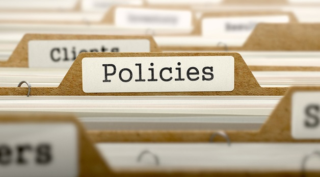 """files with the word """"policies"""" in focus"""