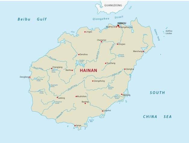Hainan is a 35,000 square kilometer island