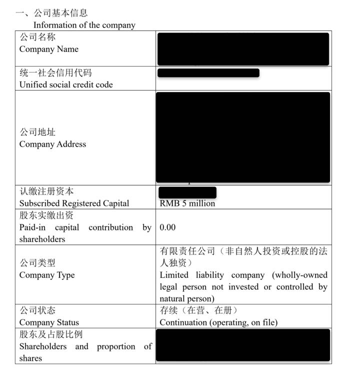 Hongda company check report 1