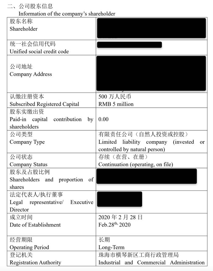 Hongda company check report 3